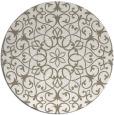 rug #957801 | round mid-brown damask rug