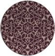 rug #957805 | round pink damask rug