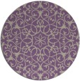 rug #957829 | round purple damask rug