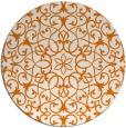 rug #957849 | round orange traditional rug