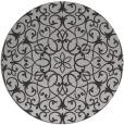 rug #957857 | round orange damask rug