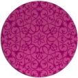 rug #957861 | round pink damask rug