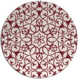 rug #957865 | round pink traditional rug