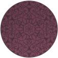 rug #957877 | round purple traditional rug