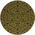 rug #957881 | round green damask rug