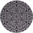 rug #957889 | round purple traditional rug