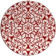 rug #957893   round red damask rug