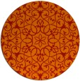 rug #957897   round red traditional rug