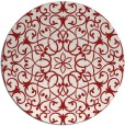 rug #957901 | round red damask rug