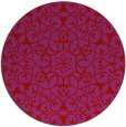 rug #957905 | round red traditional rug