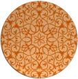 rug #957913 | round red-orange traditional rug