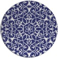 rug #957933   round blue damask rug