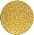 rug #957949 | round yellow traditional rug