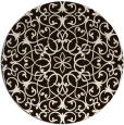 rug #957957 | round brown damask rug