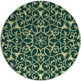 rug #957969 | round yellow traditional rug
