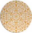 rug #958001 | round light-orange traditional rug