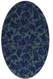 rug #958765 | oval blue-green rug