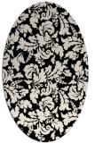rug #958789 | oval blue-green natural rug