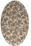 rug #958877 | oval mid-brown rug