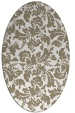 rug #958881 | oval white natural rug
