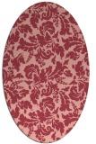 rug #958949 | oval pink natural rug