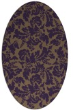 rug #958965 | oval purple rug