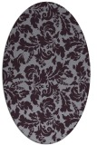 rug #958969 | oval purple natural rug
