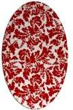 rug #958973 | oval red natural rug