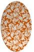 rug #959001 | oval red-orange natural rug