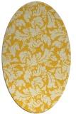 rug #959029 | oval yellow natural rug