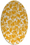 rug #959069 | oval light-orange rug