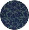 rug #959485 | round blue-green rug
