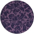 rug #959545 | round purple natural rug