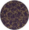 rug #959685 | round purple rug