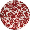 rug #959701 | round red rug