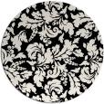 rug #959725 | round black natural rug