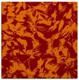 rug #962165 | square red-orange natural rug