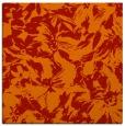rug #962217 | square orange natural rug