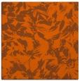 rug #962237 | square red-orange natural rug