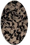 rug #962337 | oval black natural rug