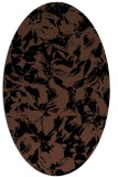 rug #962341 | oval brown rug