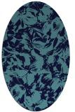 rug #962360 | oval natural rug