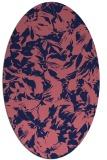 rug #962421 | oval blue-violet popular rug