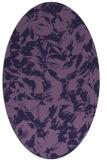 rug #962425 | oval purple rug