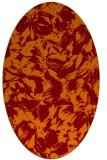 rug #962525 | oval orange natural rug