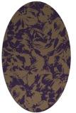 rug #962565 | oval mid-brown natural rug