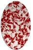 rug #962573   oval red rug