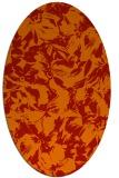 rug #962577   oval red natural rug