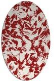 rug #962581 | oval red rug