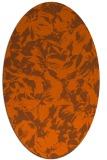 rug #962597 | oval red-orange popular rug